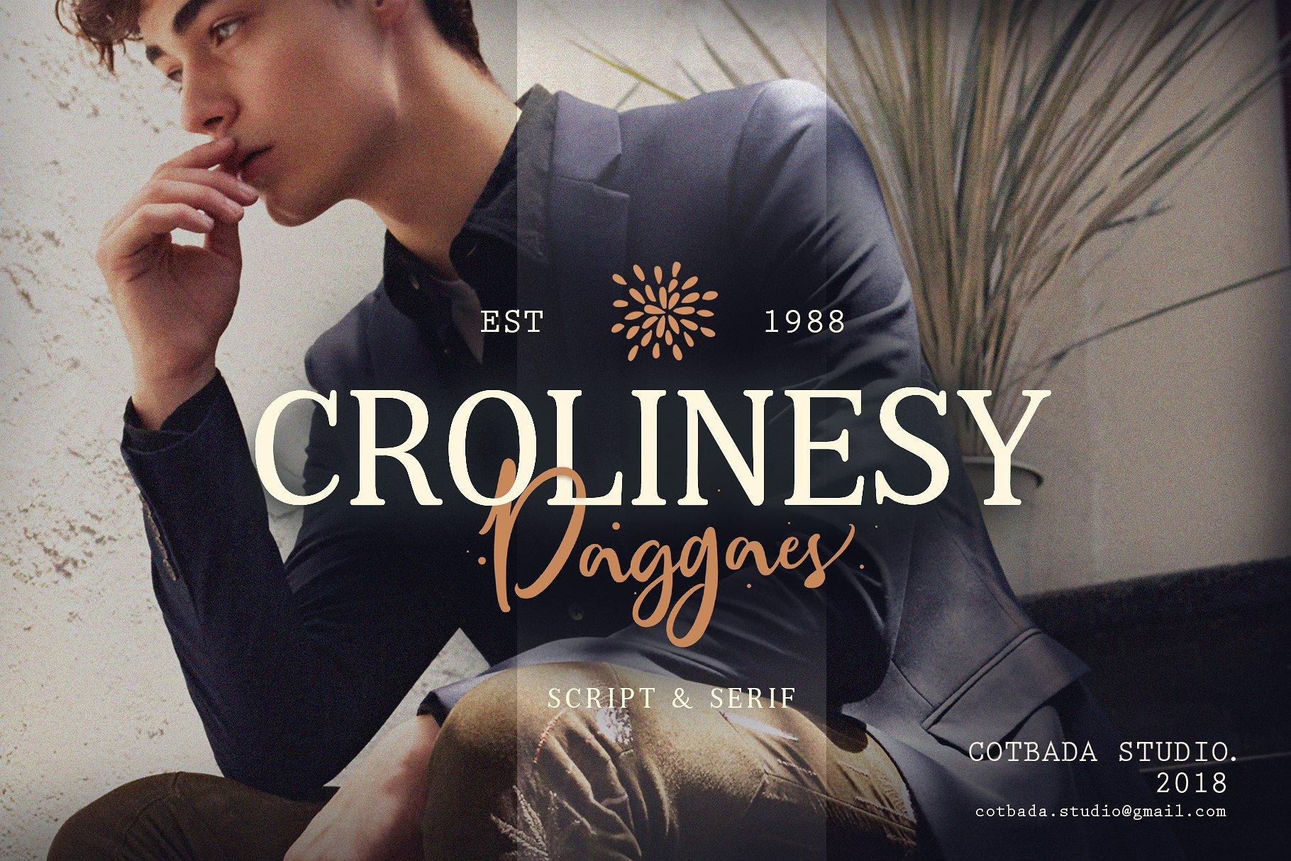 Crolinesy Daggaes Font Duo 1 - دانلود فونت Crolinesy Daggaes - مجموعه 6 فونت و فونت اسکریپت پرمیوم