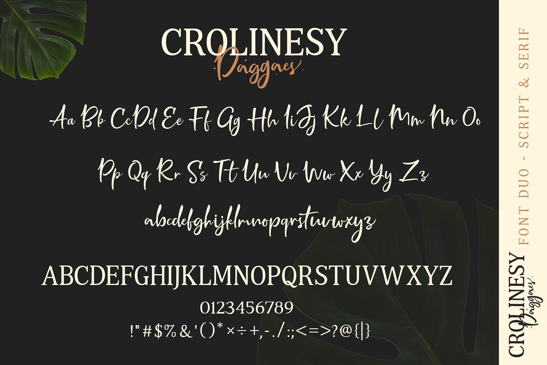 Crolinesy Daggaes Font Duo 6 - دانلود فونت Crolinesy Daggaes - مجموعه 6 فونت و فونت اسکریپت پرمیوم