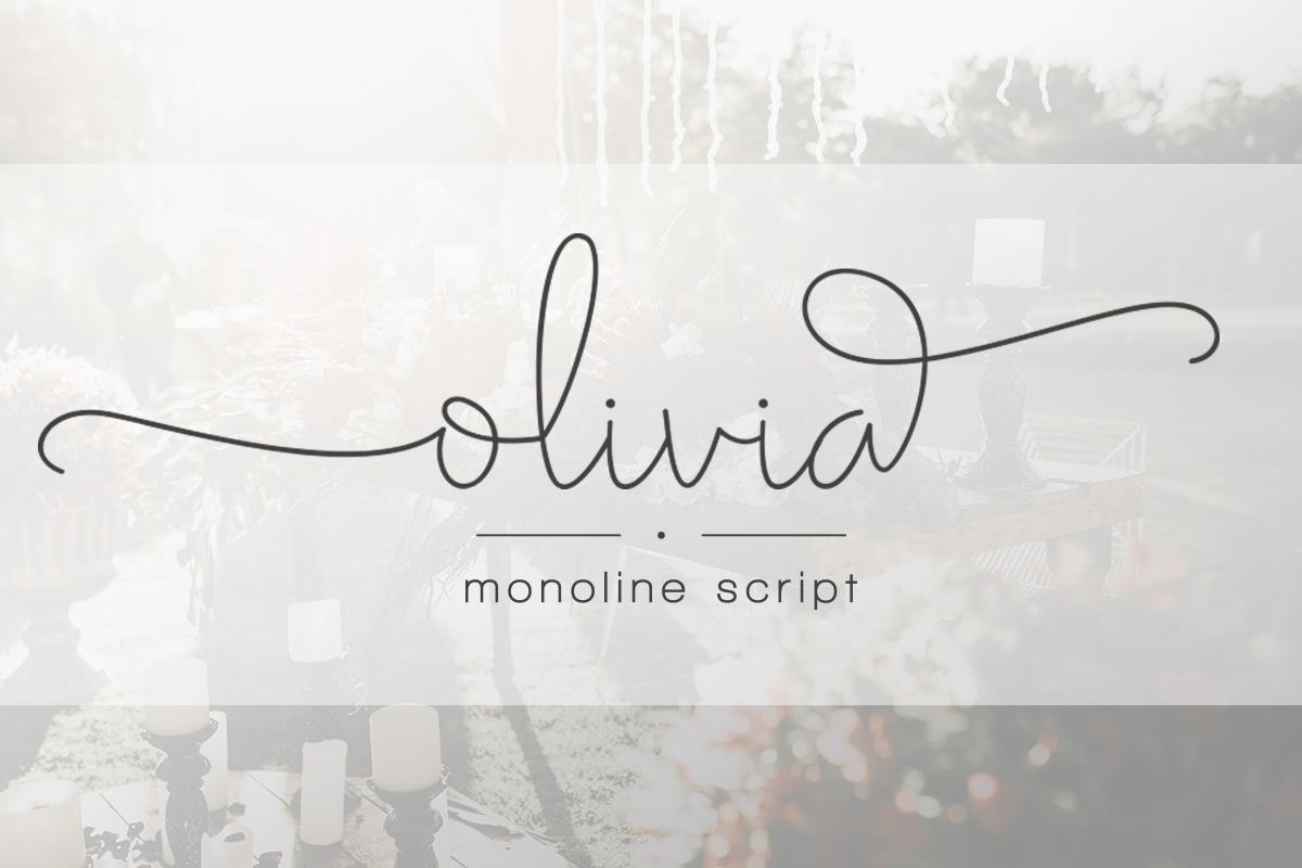 Olivia  - دانلود فونت Olivia - فونت اسکریپت جذاب و حرفه ای