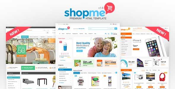 Photo of دانلود قالب فروشگاهی ShopMe – قالب HTML چند منظوره فروشگاه آنلاین