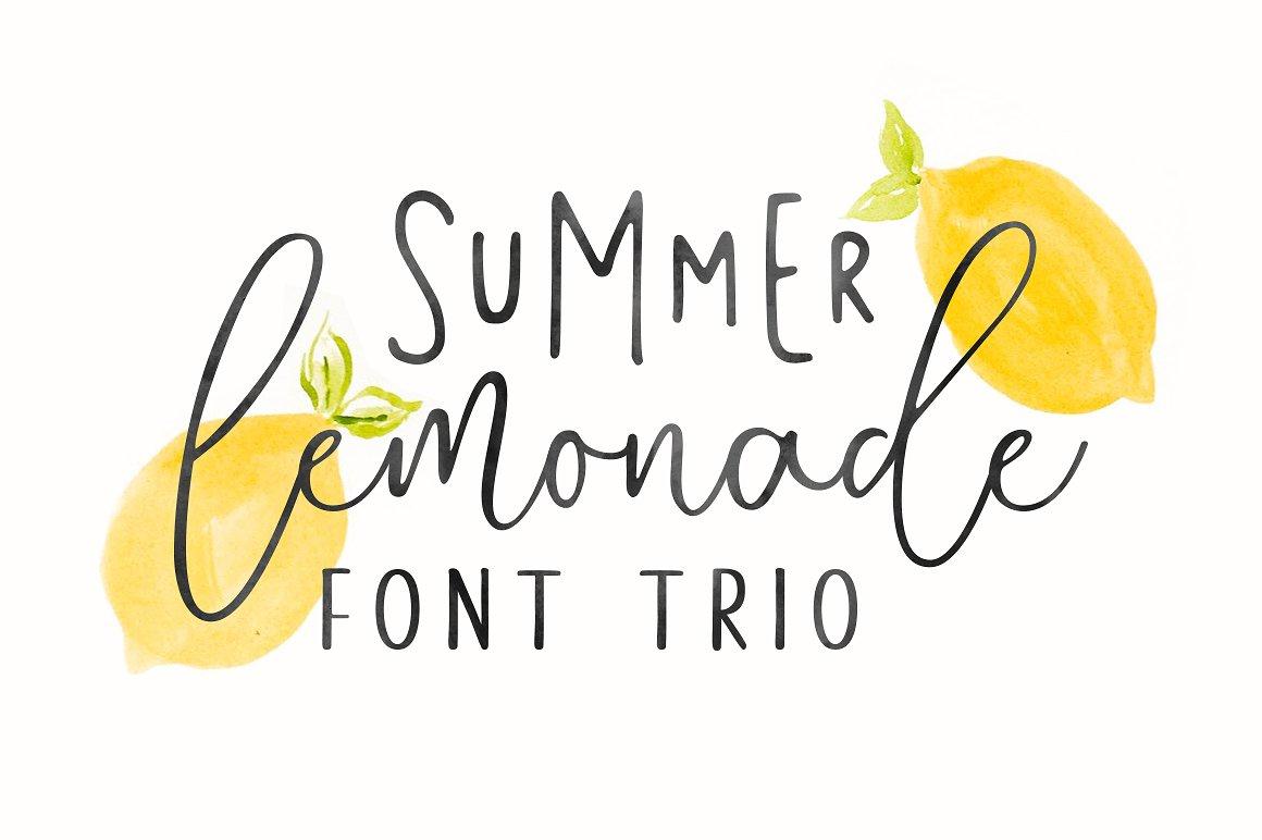 دانلود رایگان فونت Summer Lemonade + وب فونتها - پیش نمایش فونت