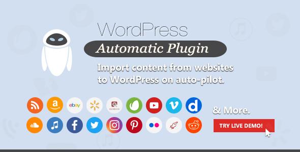 دانلود افزونه وردپرس Wordpress Automatic Plugin - افزونه مدیریت پست اتوماتیک وردپرس   پلاگین Wordpress Automatic