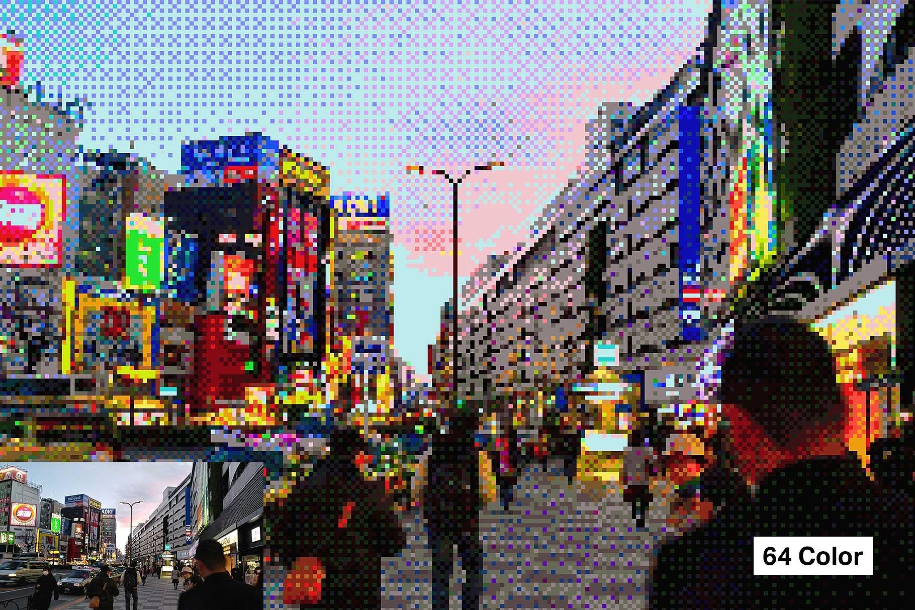 دانلود رایگان اکشن فتوشاپ 21 Pixel Art - تبدیل تصاویر به عکس های پیکسلی