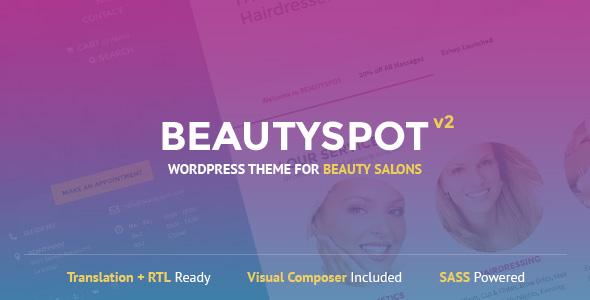BeautySpot - دانلود قالب سایت BeautySpot - قالب سالن زیبایی و آرایشگاه حرفه ای HTML