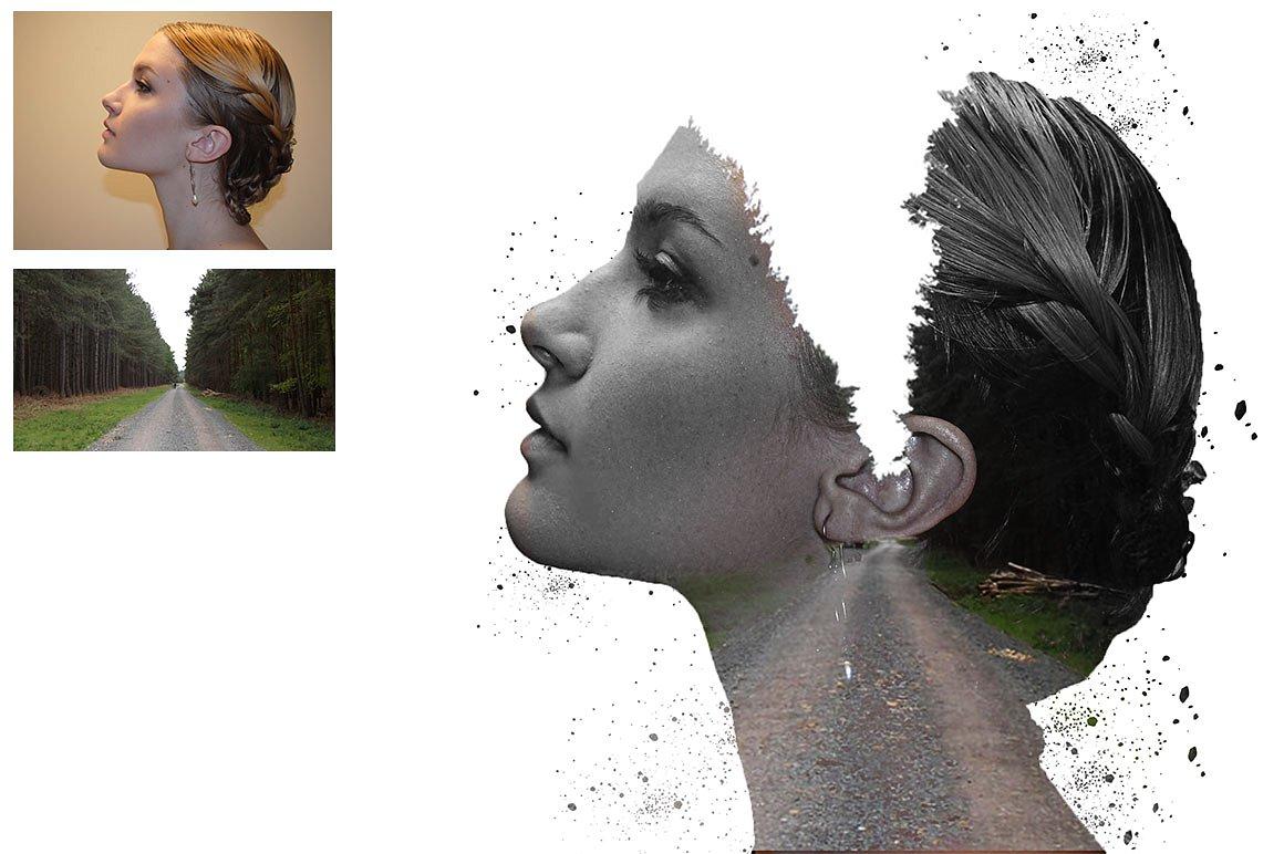 دانلود رایگان اکشن فتوشاپ Double Exposure - قرار گرفتن دوگانه تصاویر