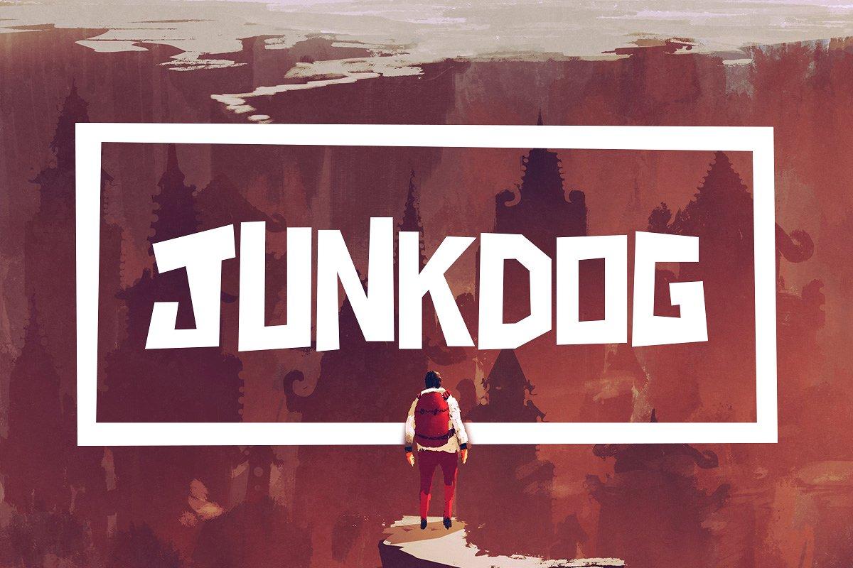 دانلود رایگان فونت انگلیسی Junkdog Typeface