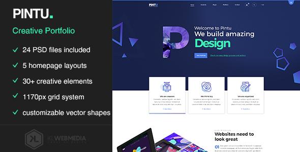 Photo of دانلود قالب سایت Pintu – قالب HTML نمونهکار حرفهای