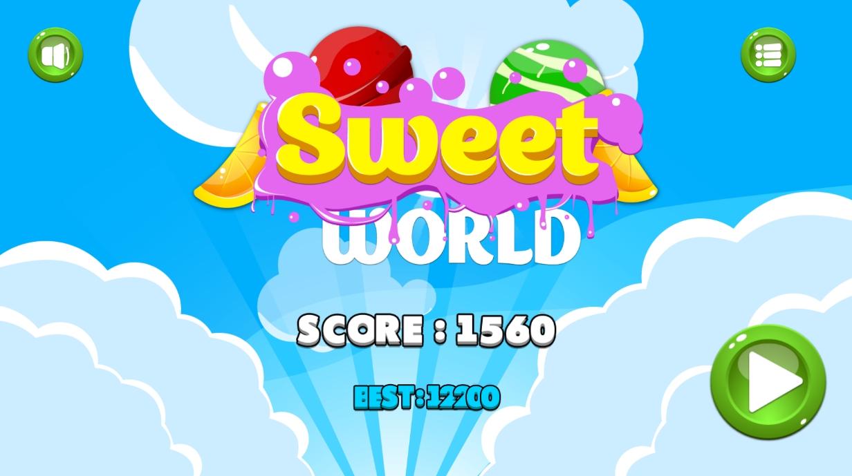 Sweet world1 - دانلود بازی HTML5 جهان شیرین - به همراه بازی آنلاین در نال اکس