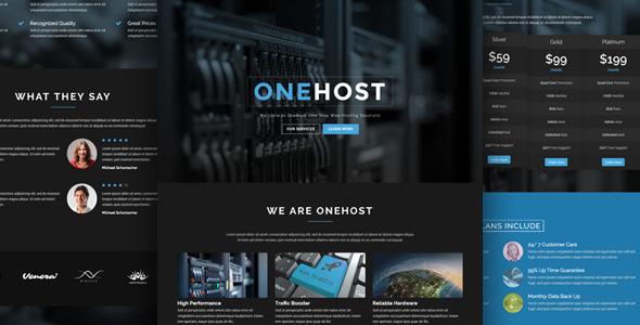 Photo of دانلود قالب وردپرس Onehost – پوسته تکنولوژی و هاستینگ وردپرس