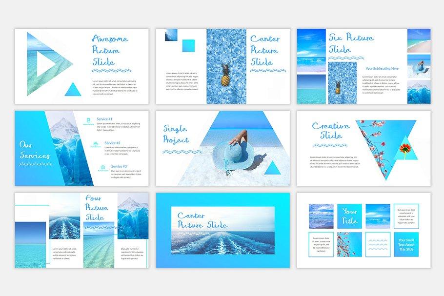 Blue Waves PowerPoint Template4 - دانلود قالب پاورپوینت Blue Waves - قالب آماده و حرفه ای PowerPoint