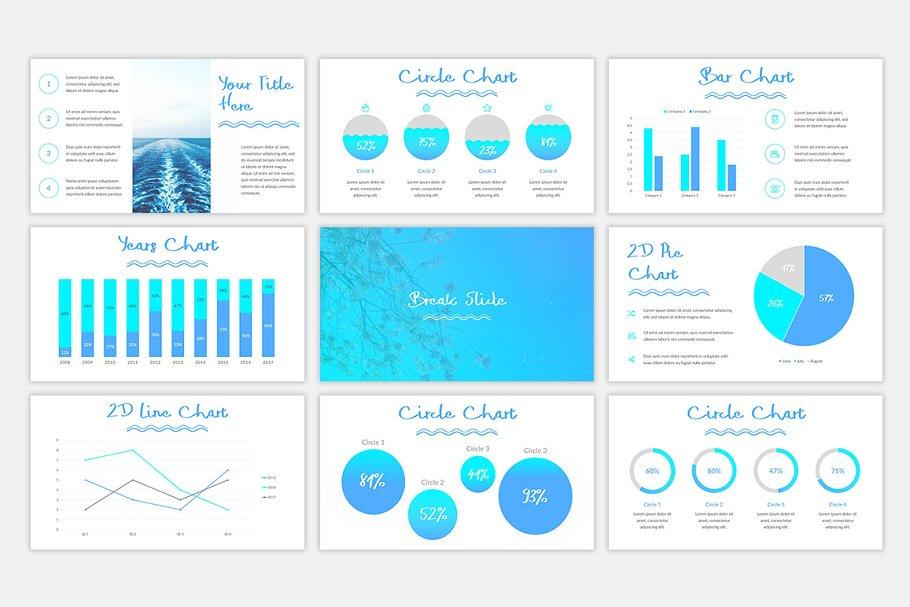 Blue Waves PowerPoint Template6 - دانلود قالب پاورپوینت Blue Waves - قالب آماده و حرفه ای PowerPoint