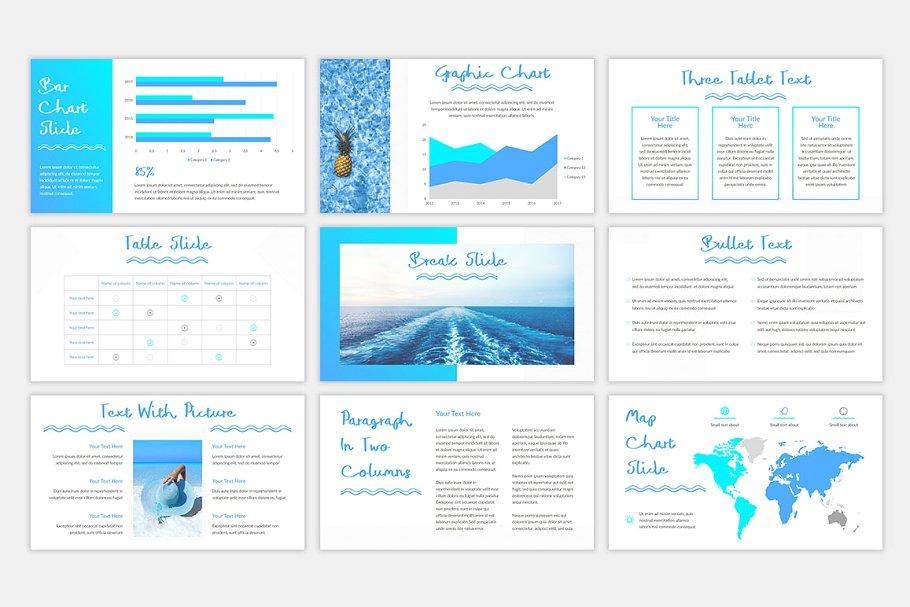 Blue Waves PowerPoint Template7 - دانلود قالب پاورپوینت Blue Waves - قالب آماده و حرفه ای PowerPoint