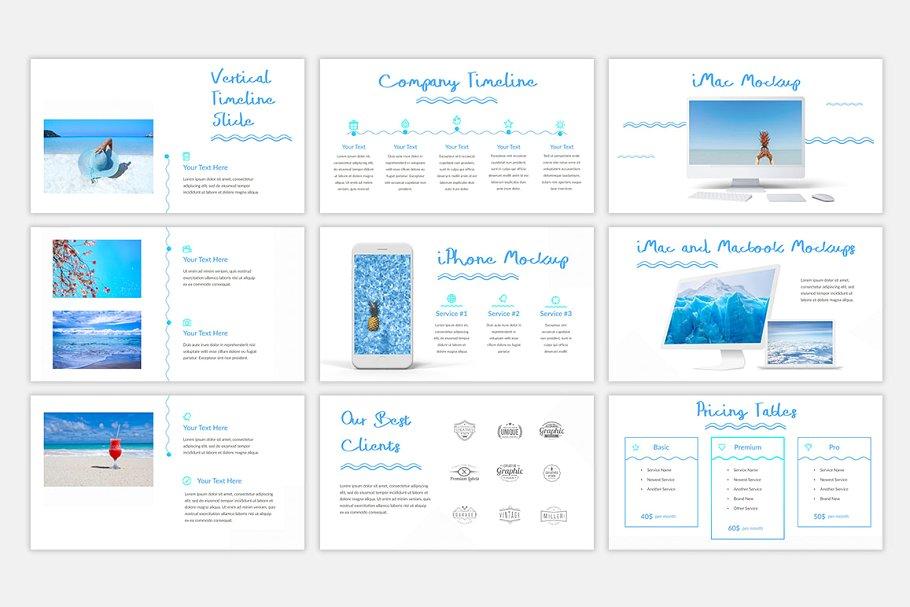Blue Waves PowerPoint Template8 - دانلود قالب پاورپوینت Blue Waves - قالب آماده و حرفه ای PowerPoint