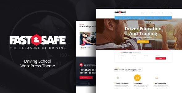 Photo of دانلود قالب وردپرس Fast & Safe – پوسته آموزشگاه رانندگی وردپرس