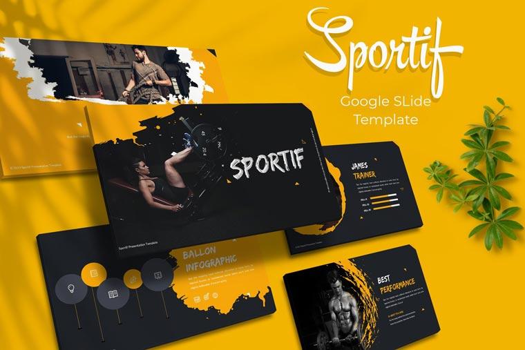 Sportif Google Slides Template - دانلود مجموعه قالب های ارائه Sportif – پاورپوینت | گوگل اسلاید | Keynote