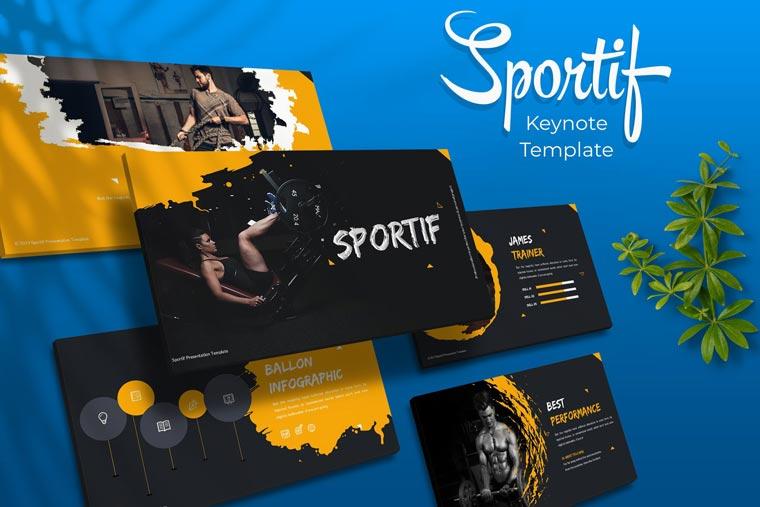 Sportif Keynote Template - دانلود مجموعه قالب های ارائه Sportif – پاورپوینت | گوگل اسلاید | Keynote