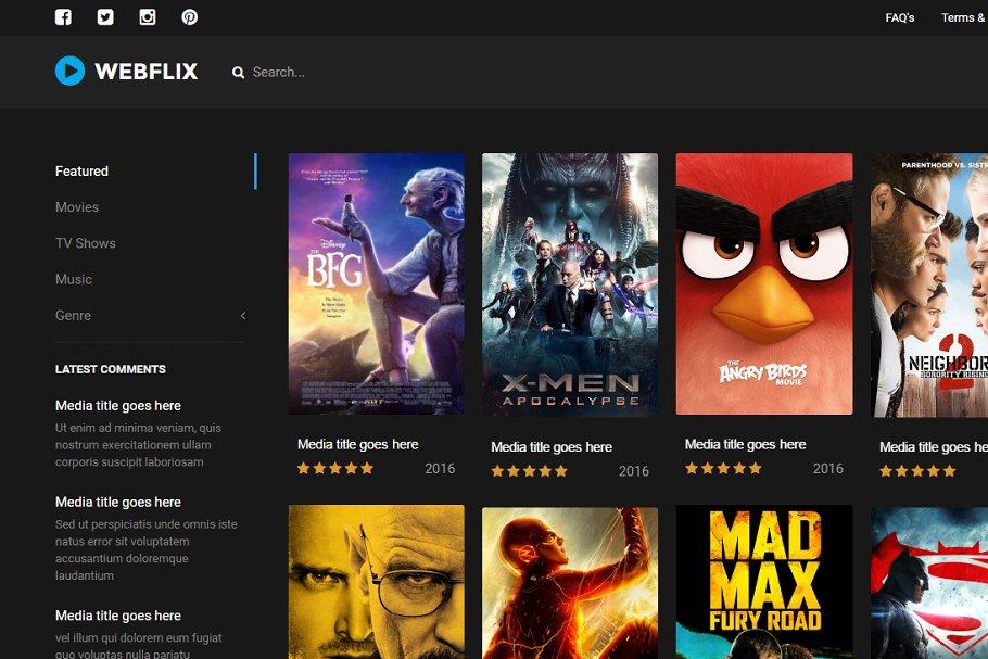 Photo of دانلود قالب فیلم و سریال Webflix – قالب HTML استریم و مدیا حرفه ای