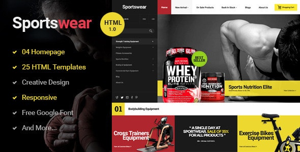 Photo of دانلود قالب سایت Sportwear – قالب HTML چند منظوره و حرفه ای فروشگاهی