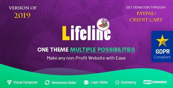 Photo of دانلود قالب وردپرس Lifeline – پوسته خیریه و کمک های مالی وردپرس