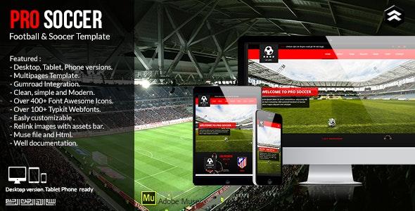 Photo of دانلود قالب میوز Pro Soccer – قالب ورزشی و فوتبالی Adobe Muse
