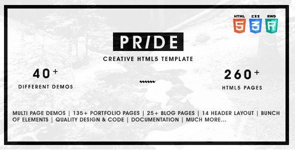 Photo of دانلود قالب سایت Pride – قالب HTML چند منظوره و نمونه کار حرفه ای