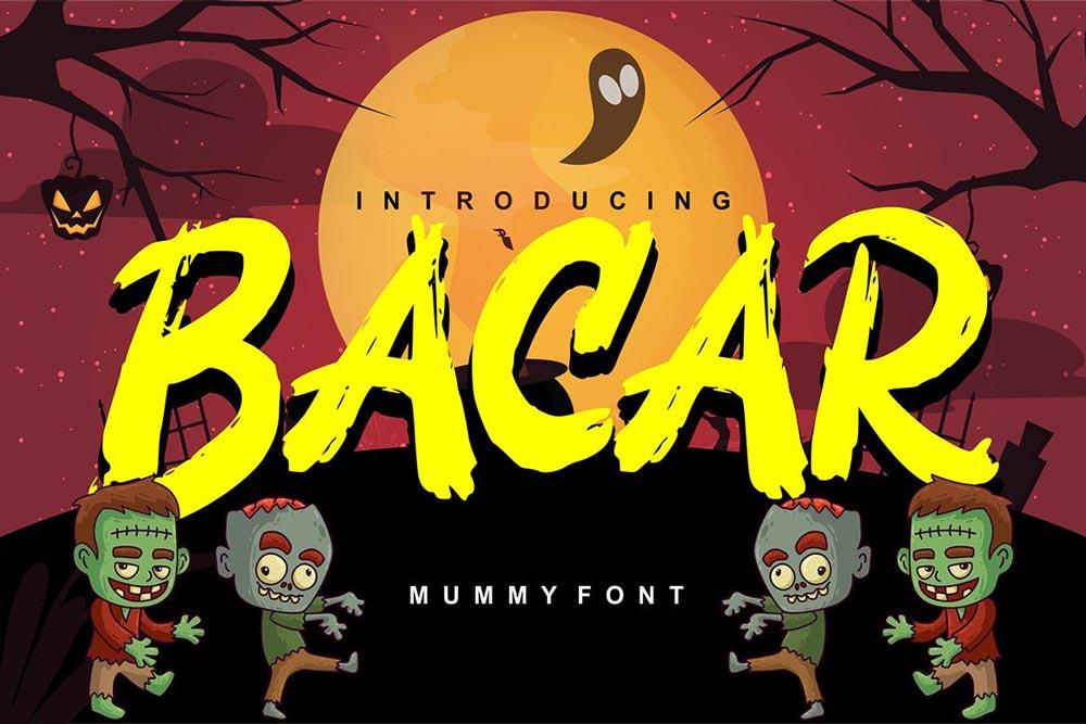 دانلود فونت هالووین و فانتزی Bacar | به همراه فونت وب