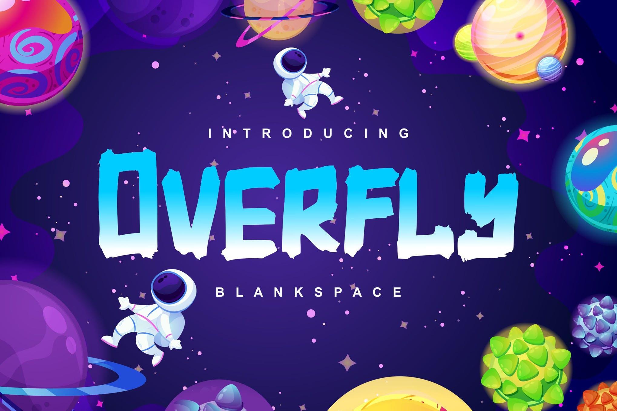 دانلود اسکریپت فونت فضایی و خاص Overfly