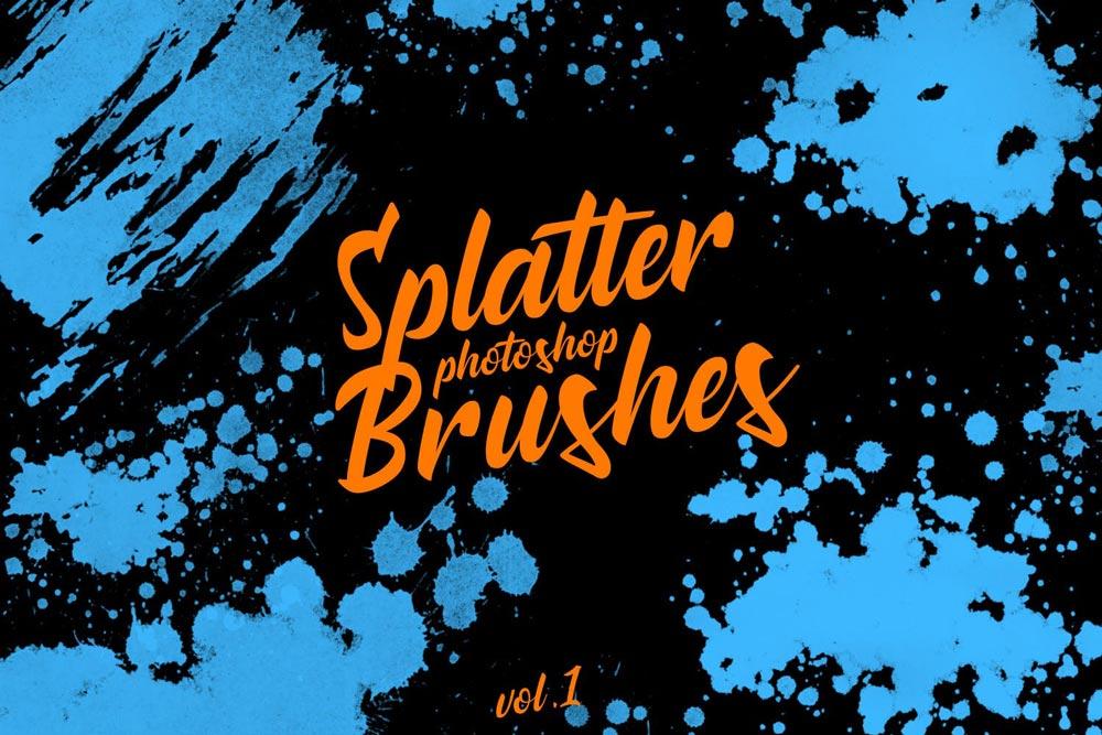 Photo of دانلود مجموعه براش و قلم موهای فتوشاپ Splatter Stamp   در ۶ نسخه متفاوت
