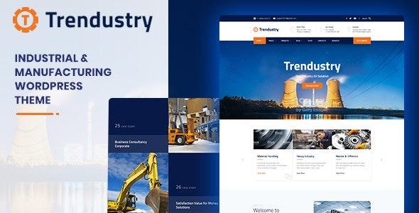 Photo of دانلود قالب وردپرس Trendustry – پوسته واکنش گرا و تولیدات صنعتی وردپرس