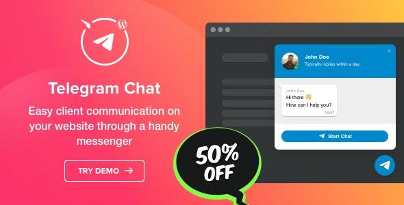 Photo of دانلود افزونه وردپرس Telegram Chat Plugin – افزونه چت تلگرام برای وردپرس