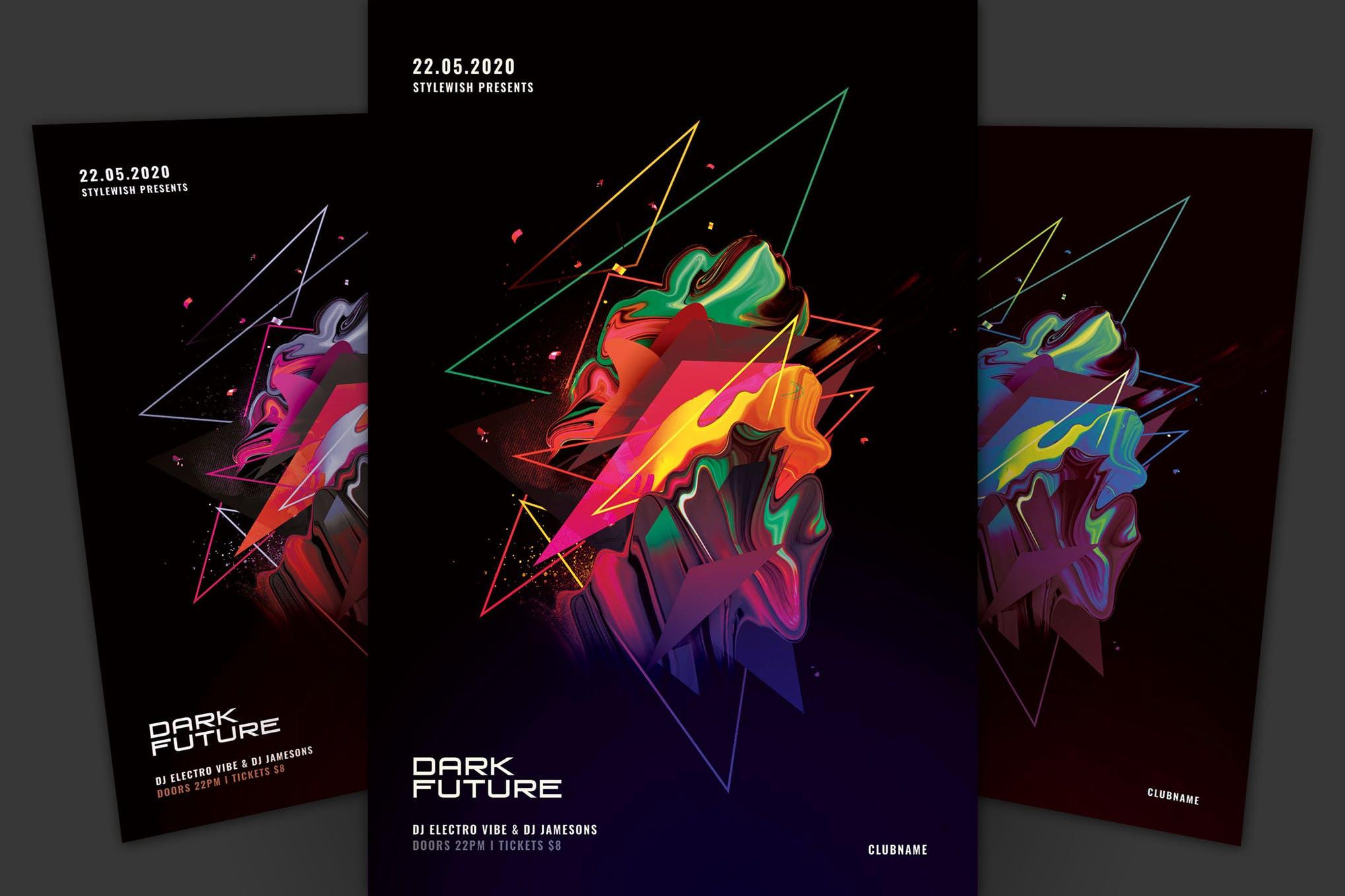 دانلود فلایر لایه باز و جذاب Dark Future Flyer