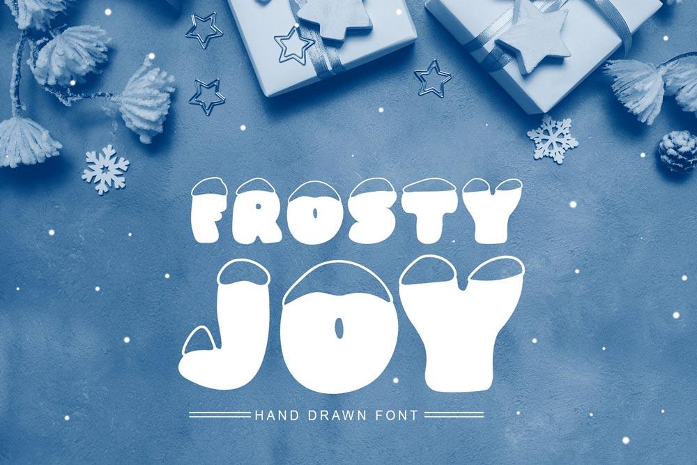 دانلود فونت بسیار زیبا و جذاب Frosty Joy - به همراه نسخه وب فونت