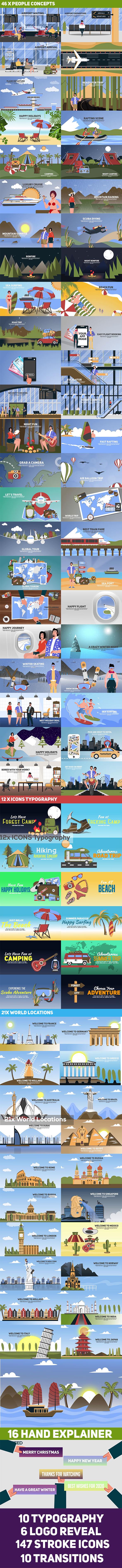 دانلود پروژه افتر افکت Travel & Holiday Promotion Kit