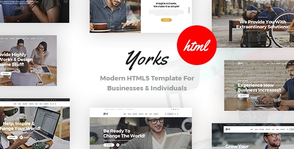 Photo of دانلود قالب سایت Yorks – قالب شرکتی مدرن و جذاب HTML