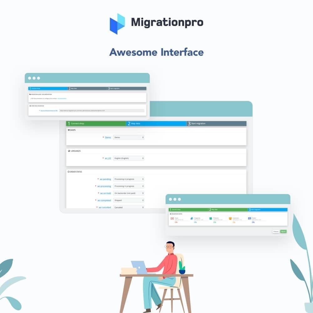 MigrationPro WooCommerce to PrestaShop Migration Tool Module 5 - دانلود افزونه پرستاشاپ MigrationPro - انتقال سایت از ووکامرس به پرستاشاپ
