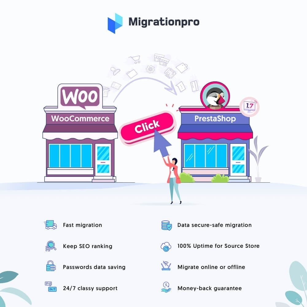 MigrationPro WooCommerce to PrestaShop Migration Tool Module - دانلود افزونه پرستاشاپ MigrationPro - انتقال سایت از ووکامرس به پرستاشاپ