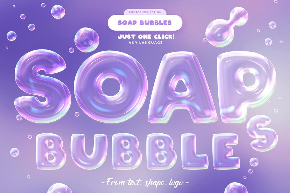 دانلود اکشن فتوشاپ خلاقانه و جذاب Soap Bubbles - به همراه آموزش ویدیویی