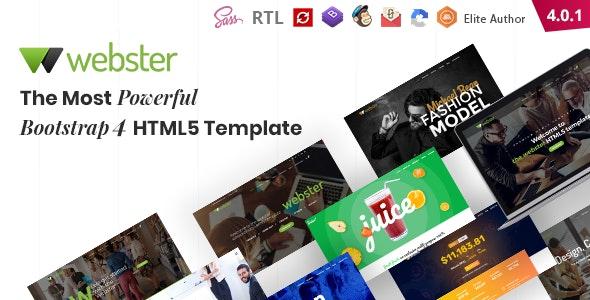 Photo of دانلود قالب سایت Webster – قالب چند منظوره کسب و کار و شرکتی حرفه ای HTML5