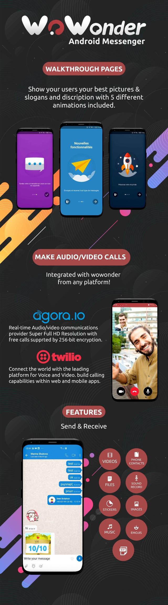 WoWonder Android Messenger - Mobile Application for WoWonder Social Script