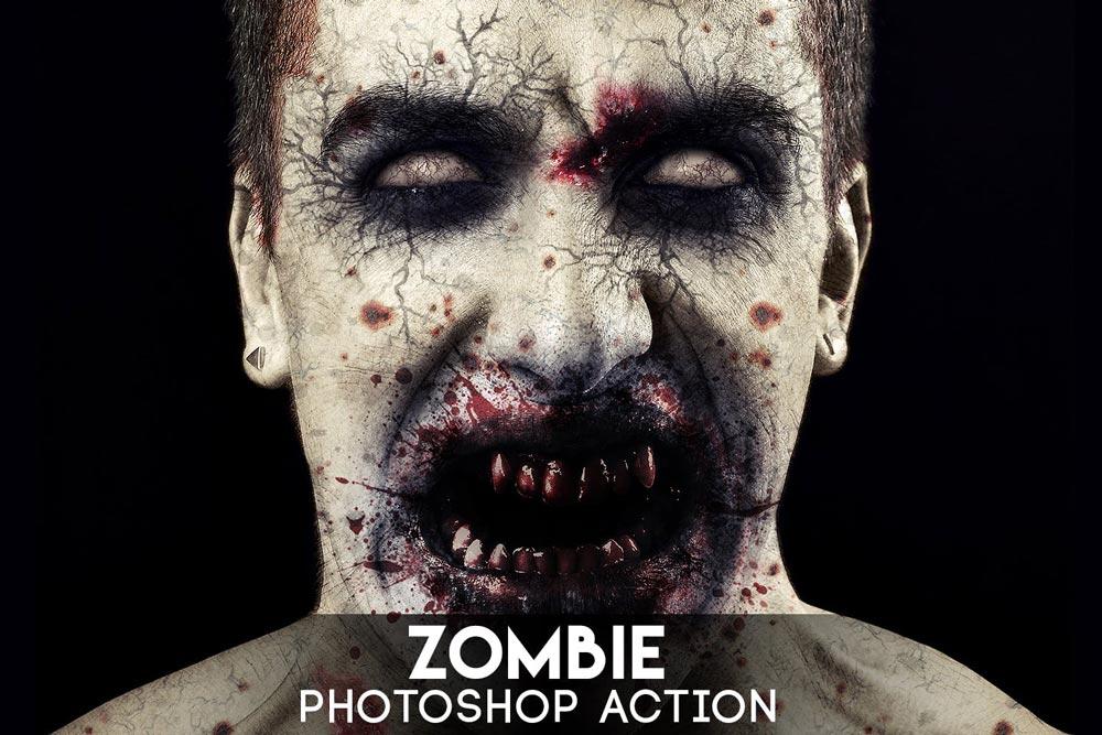 دانلود اکشن فتوشاپ Zombie - تبدیل تصاویر به زامبی توسط اکشن فتوشاپ هوشمند