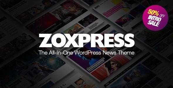 دانلود قالب وردپرس ZoxPress - قالب خبری و مجله حرفه ای وردپرس