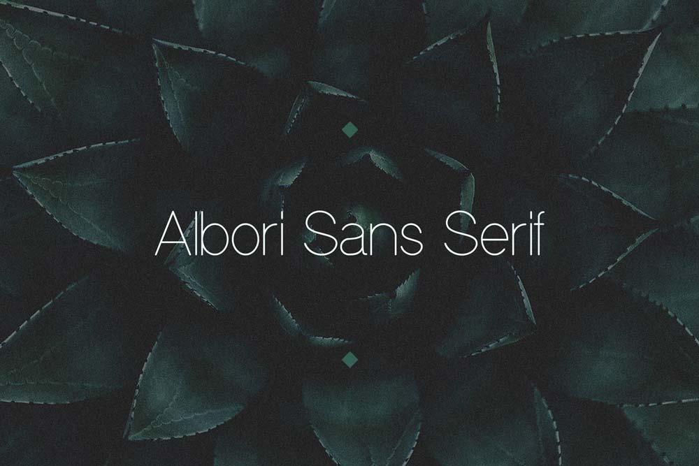 دانلود فونت انگلیسی سنس سریف خلاقانه Albori