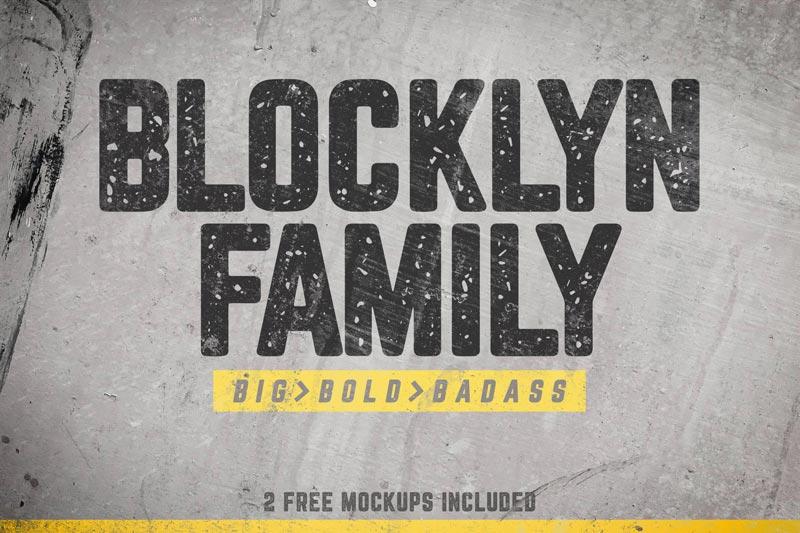 دانلود مجموعه فونت حرفه ای و پرمیوم Blocklyn - به همراه موکاپ لایه باز