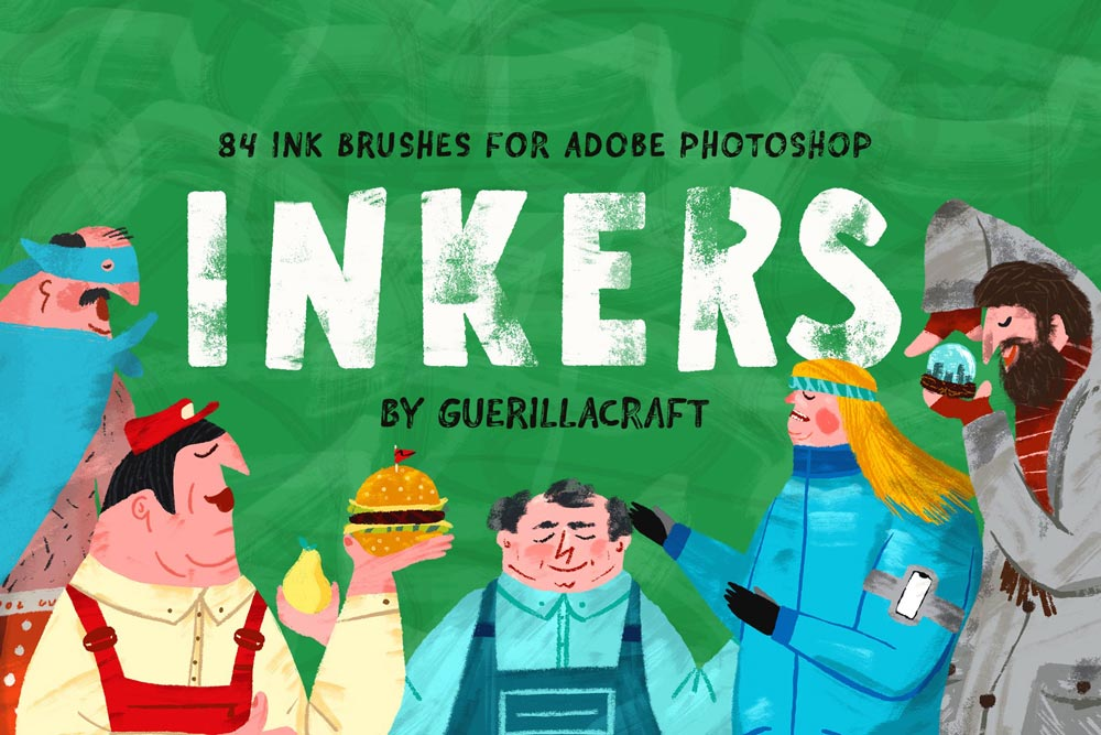 دانلود اکشن فتوشاپ خلاقانه و حرفه ای Inkers Brushes