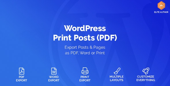 Photo of دانلود افزونه وردپرس WordPress Print Posts & Pages (PDF)