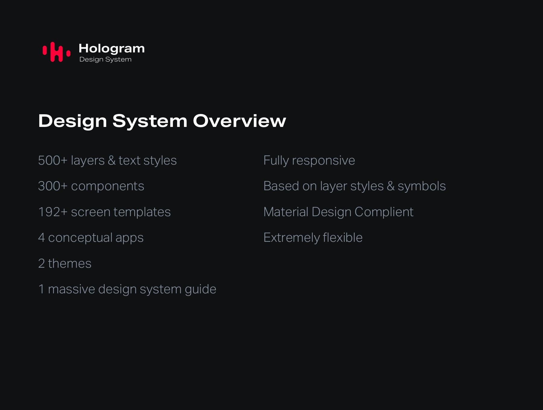 Hologram Design System