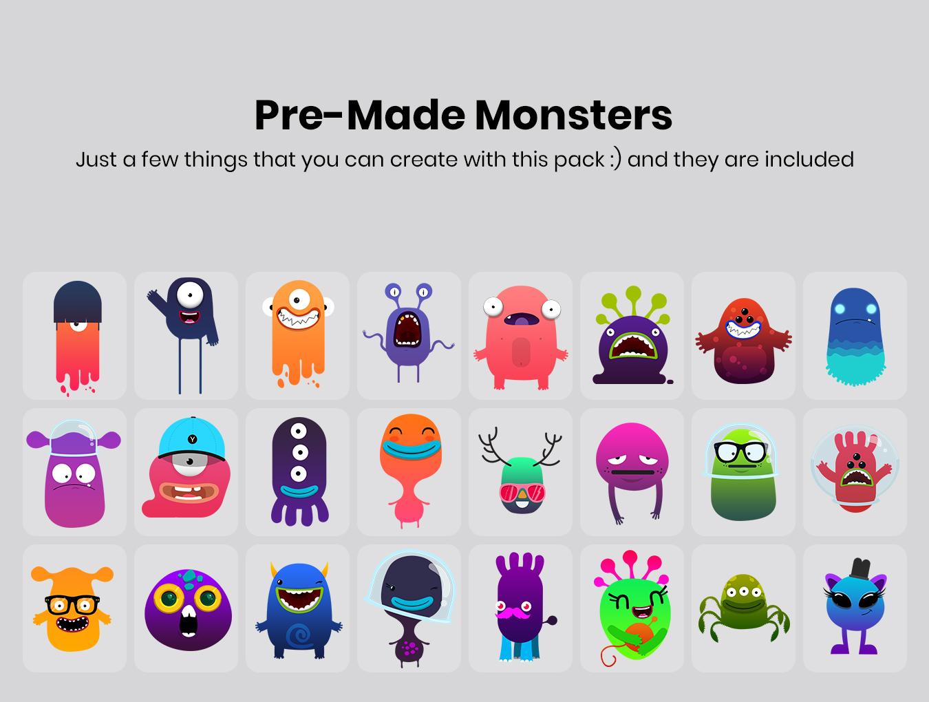 کاراکتر Monster Studio Pro