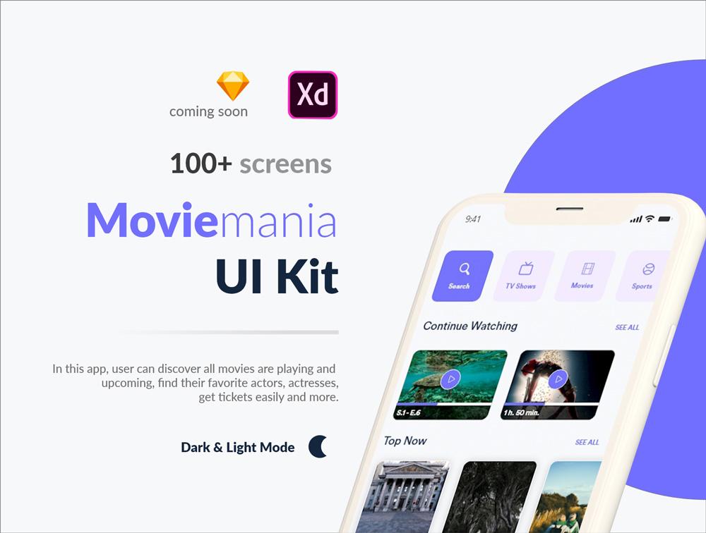 Photo of دانلود UI Kit اپلیکیشن موبایل چند منظوره Moviemania