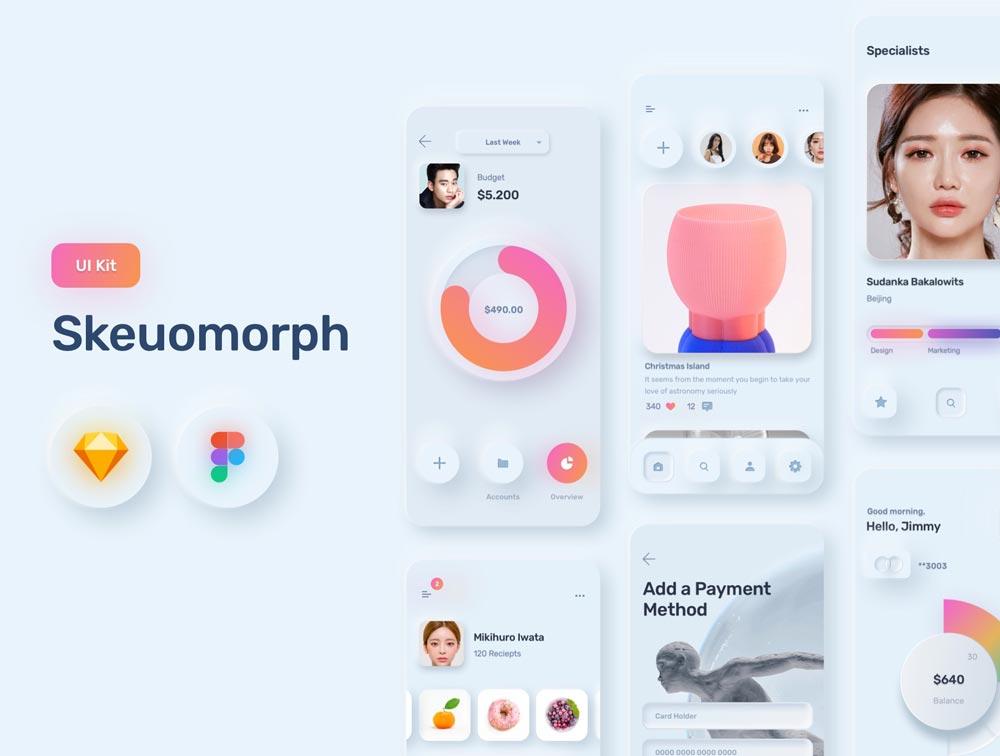 Photo of دانلود UI Kit اپلیکیشن iOS فروشگاهی Skeuomorph