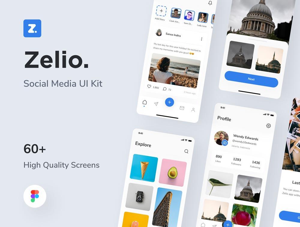 Photo of دانلود UI Kit اپلیکیشن موبایل شبکه اجتماعی Zelio – برپایه iOS